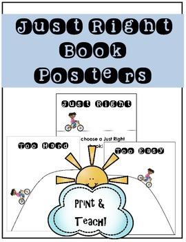 "Free Choosing ""Just Right"" Book Mini Posters"