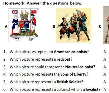 Choosing Sides: American Revolution