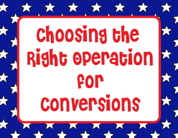 Choosing the Right Operation for Converting Measurements-