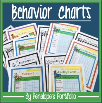 Behavior Charts - Chores, Healthy Habits, Manners, Respons