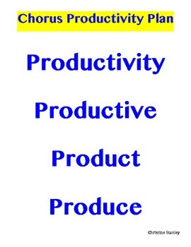 Chorus Productivity Plan Poster