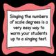 Chorus Rubric Singing Test ♫ 1-8-1 Scale Degrees