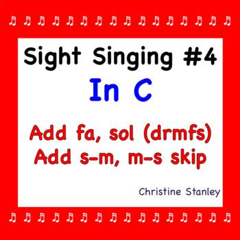 Chorus Sight Singing #4 in C - ♪ ♪ ♪ ♪ ♪ Add fa, sol. Add