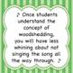 Chorus Worksheet:  Woodshedding  ♫ ♫ ♫