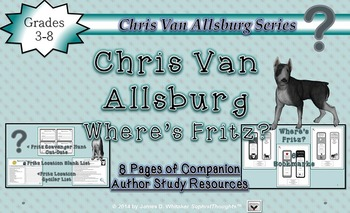 Chris Van Allsburg Author Study Resource Companion & Bookmarks