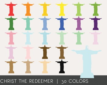 Christ the Redeemer Digital Clipart, Christ the Redeemer Graphics