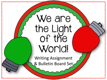 Christian Christmas Bulletin Board Set.  We are the Light
