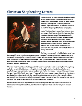 Christian Church  Shepherding Letters for Young Adults, Mi