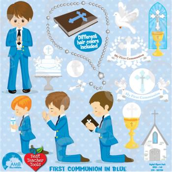 Christian Clipart, First Communion, Boys, Catholic clipart