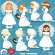 Christian Clipart, First Communion, Girls, Catholic clipar