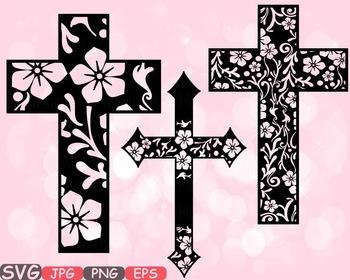 Christian Cross Jesus clipart crosses religious flower Hop