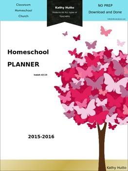 Homeschool Planner 2015 - 2016