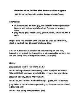 Christian Skit #10: Dr. Rubenstein Studies Actions that Defy Fear