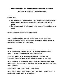 Christian Skit 8: Dr. Rubenstein Considers Giants