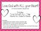 Christian Valentine's Day Bulletin Board Set. Love God wit