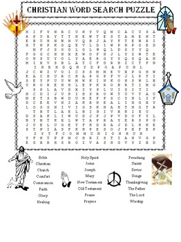Christian Word Search Puzzle
