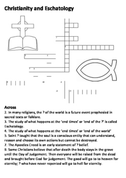 Christianity and Eschatology Crossword