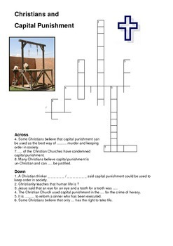 Christians and Capital Punishment Crossword