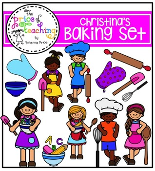 Christina's Baking Set (The Price of Teaching Clipart Set)