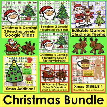 Christmas Activities Bundle: Readers, Poems, Sight Words,