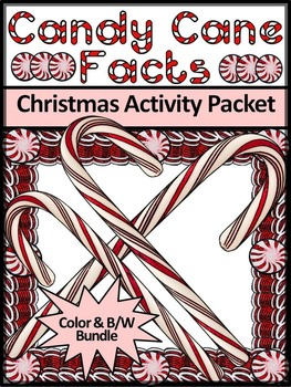 Christmas Activities: Candy Cane Facts Christmas Activity Packet