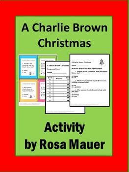 A Charlie Brown Christmas Book Unit