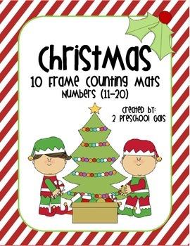 Christmas 10 Frame Counting Mats (11-20)