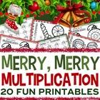 3rd Grade Christmas Math: 3rd Grade Christmas Multiplication Printables