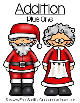Christmas Math Quick and Easy to Prep Addition Plus One Ce