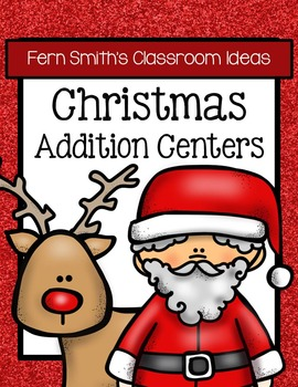 Christmas Math Quick and Easy to Prep Addition Center Game