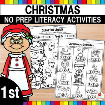 Christmas 1st Grade Literacy Worksheets (Common Core Aligned)