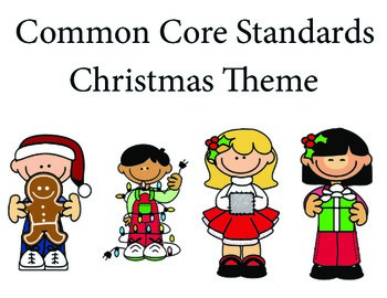 Christmas 1st grade English Common core standards posters