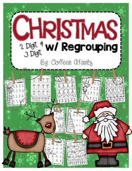 Christmas 2 Digit & 3 Digit w/Regrouping