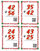 Christmas 2 digit addition task cards without regrouping;