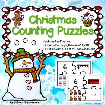 Counting and Cardinality: Christmas Counting Puzzles