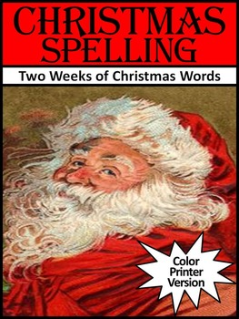 Christmas Spelling Language Arts Activity Packet