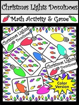 Christmas Game Activities: Christmas Lights Dominoes Chris