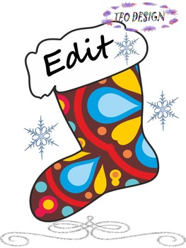 Winter Activities -  Writing - Christmas boots - Labels (E