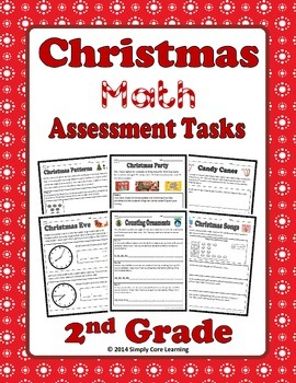 Christmas 2nd Grade Common Core Math Assessment Tasks