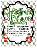 Christmas 8 Parts of Speech Printables for Centers and Ind