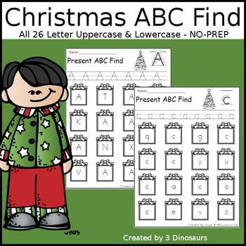 Christmas ABC Letter Find