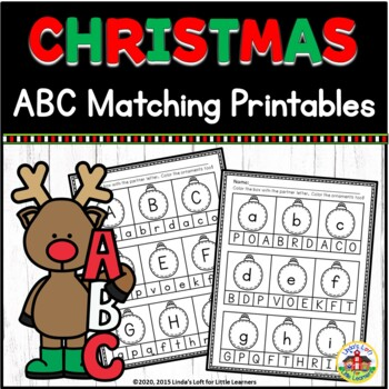 Christmas ABC Letter Matching Printables
