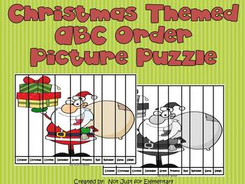 Christmas ABC Order Picture Puzzle