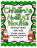 Christmas Abstract and Concrete Noun Printables with CCSS!!