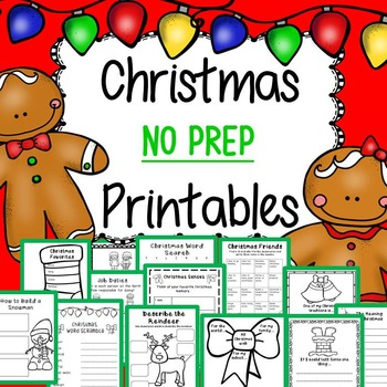 Christmas Activities for Kindergarten, 1st Grade, and 2nd Grade