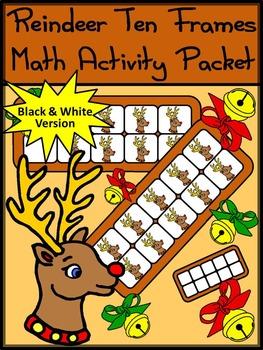 Christmas Math Activities: Reindeer Christmas Ten Frames M