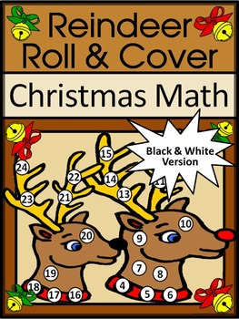 Reindeer Activities: Reindeer Roll & Cover Christmas Math