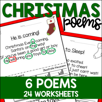 Christmas Sight Word Poetry for the Pocket Chart