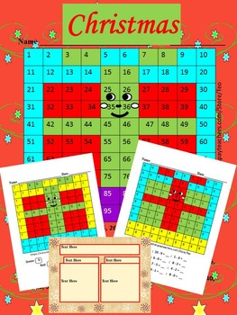 Christmas Activities - Gift - Mystery Picture - Math - Edi