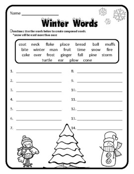 Compound Words Christmas Grammar Christmas Activities Gram